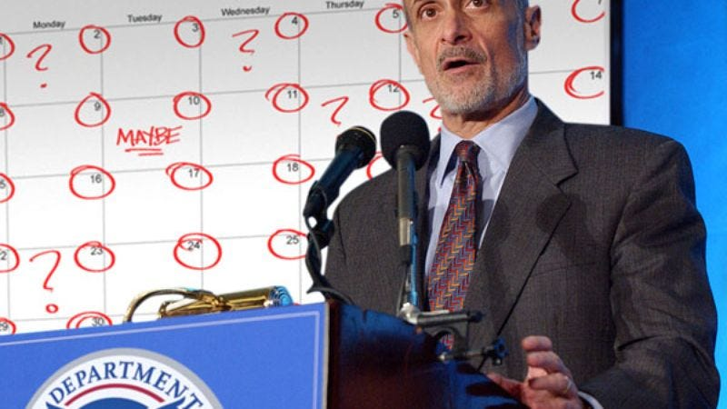 Michael Chertoff cautions citizens to accept the possibility of a 5/24.