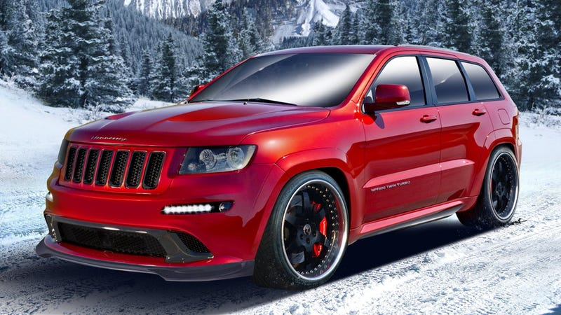 Illustration for article titled This $235,000 Jeep SRT8 is quicker than a Porsche Turbo