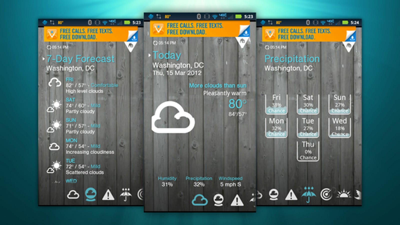 1Weather Is the Most Attractive, Feature-Packed Android