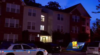 Scene from the Owing Mills, Md., neighborhood where Baltimore County police shot and killed an unarmed black man June 25, 2015WBAL-TV