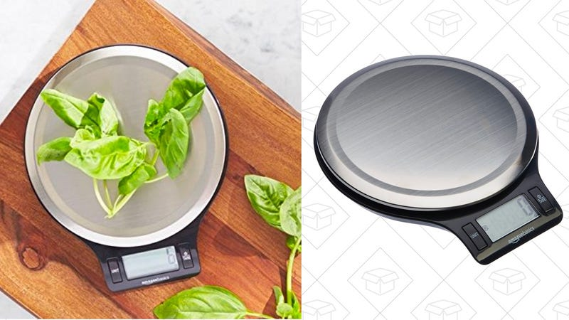 AmazonBasics Stainless Steel Digital Kitchen Scale with LCD Display | $7 | Amazon