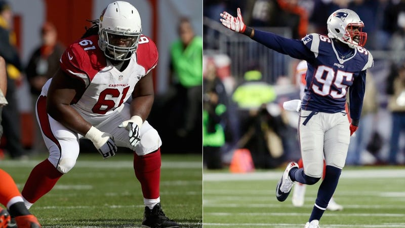 Illustration for article titled Report: Patriots Trade Chandler Jones To Cardinals For Draft Pick, Jonathan Cooper