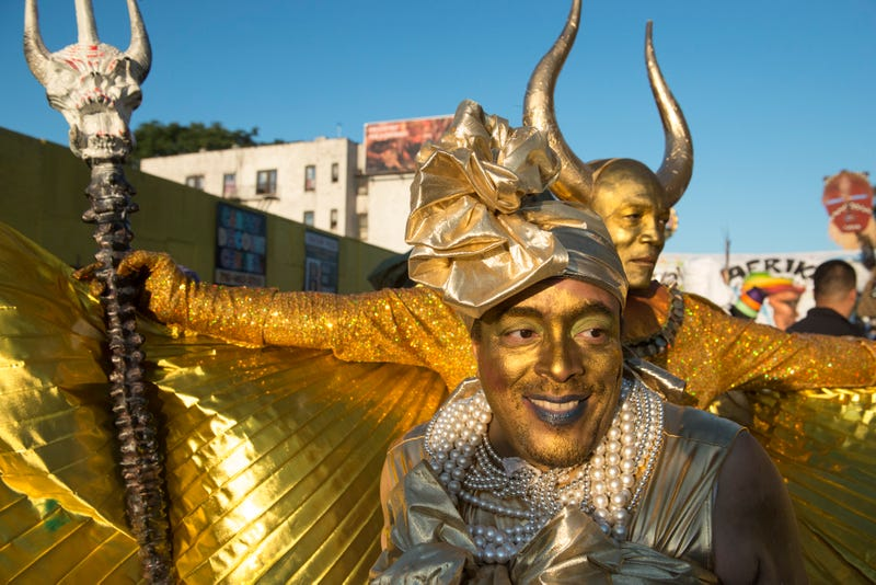 Revelers participate Sept. 7, 2015, in J'Ouvert, an annual Caribbean street festival celebrated each Labor Day in the Brooklyn borough of New York City. J'Ouvert starts the night before Carnival and leads into the main West Indian Day Parade. (Stephanie Keith/Getty Images)
