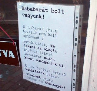 Illustration for article titled Itt a baba- és kismamabarát Nemzeti Dohánybolt!