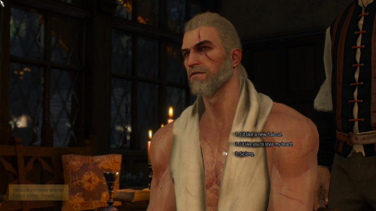 the witcher 3 s free dlc so far monsters beards and a pretty dress