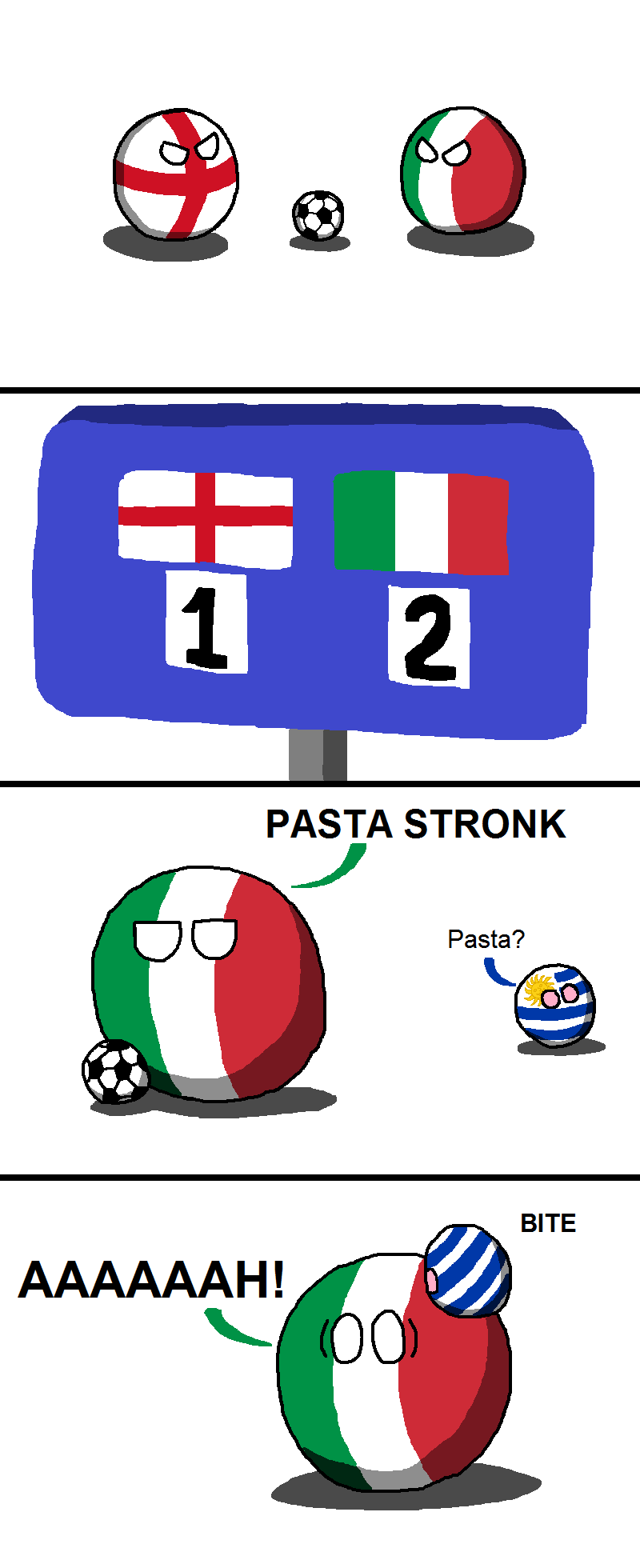 Illustration for article titled Daily Polandball: Soccer Makes you Hungry
