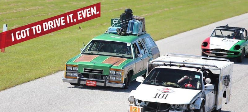 Illustration for article titled Speedycop's Race-Ready Family Truckster Is Amazing And For Sale!