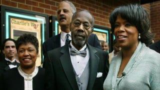 Barbara Winfrey, Stedman Graham (background), Vernon Winfrey and OprahAdriane Jaeckle/ Getty Images