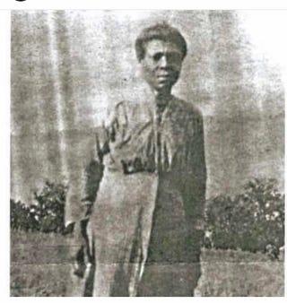 Sabra Vinson, daughter of former slave Adalin Vinson Family photo courtesy of Natasha Mullins