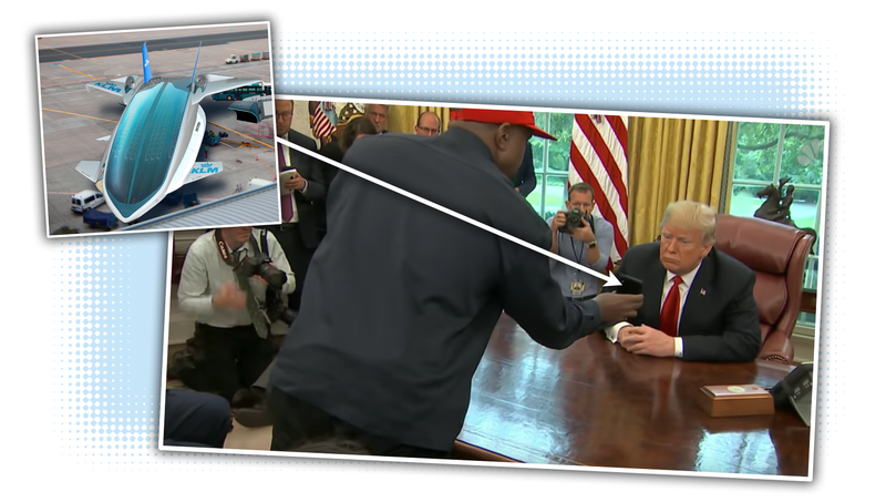 Illustration for article titled The Hydrogen Plane Kanye West Showed to Trump Is Stupid