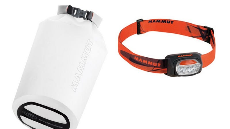 Illustration for article titled Combination Headlamp Dry Bag Protects Your Stuff, Sets the Mood