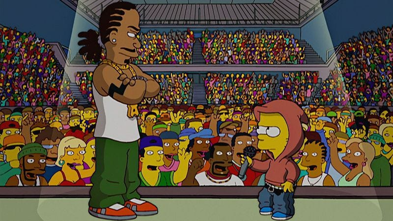 Remember when Pranksta Rap happened and we all wanted to die? (The Simpsons)