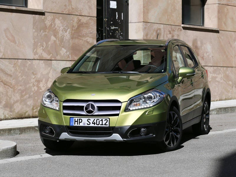 Illustration for article titled Baby Benz... (it's a Photoshopped 2014 Suzuki SX4)