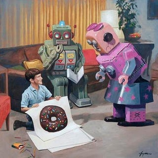 Illustration for article titled Donut Logic Provides a Whimsical Peek Into Robot Life