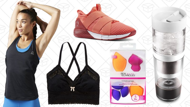 Illustration for article titled Today's Best Lifestyle Deals: Aerie, Reebok, Real Techniques, Iced Coffee Maker, and More