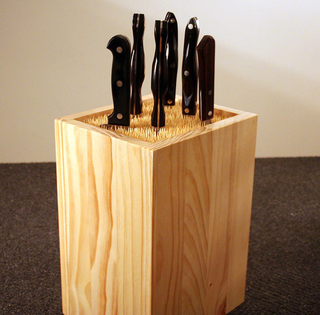 Illustration for article titled Build a DIY Schaschlik Knife Block On the Cheap