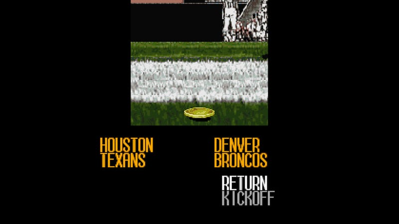 Illustration for article titled We're Simulating Texans-Broncos In Tecmo Super Bowl III