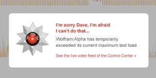 Illustration for article titled Wolfram Alpha Fail Is Appropriately Nerdy