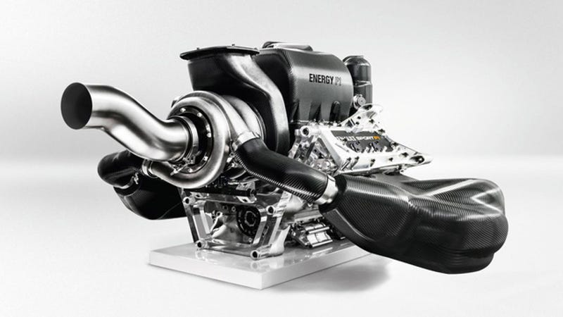 Illustration for article titled How Formula One's Amazing New Hybrid Turbo Engine Works