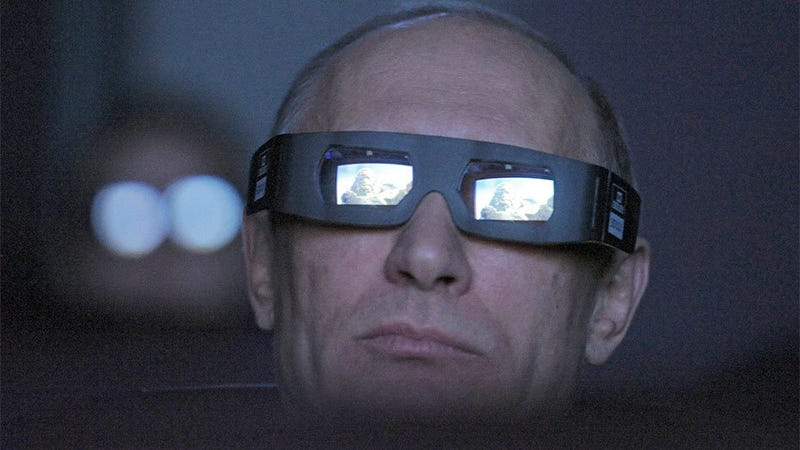 Illustration for article titled Vladimir Putin Will Make 3D Popular Whether You Like It or Not