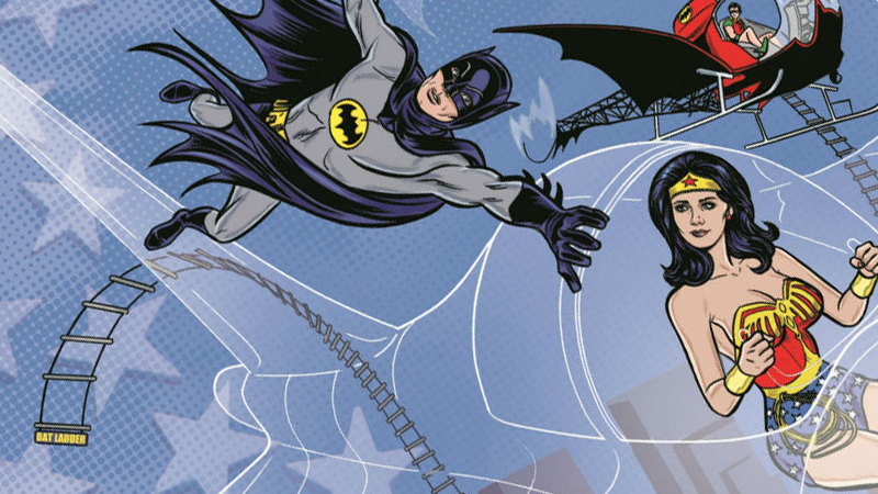 Illustration for article titled Why the Batman '66 and Wonder Woman '77 Crossover Is All About Embracing the Camp