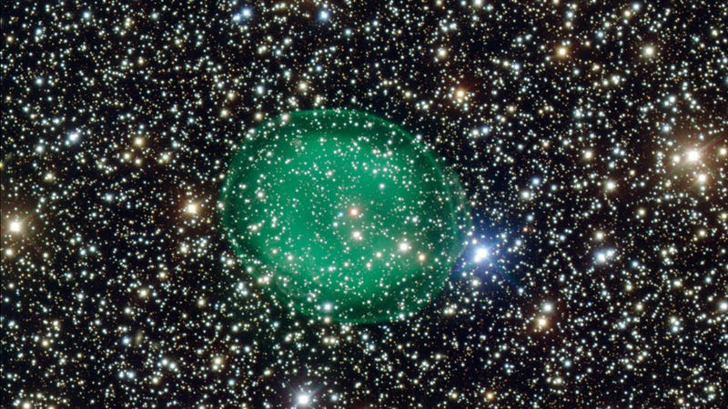 Illustration for article titled There's a Massive Green Blob in Space