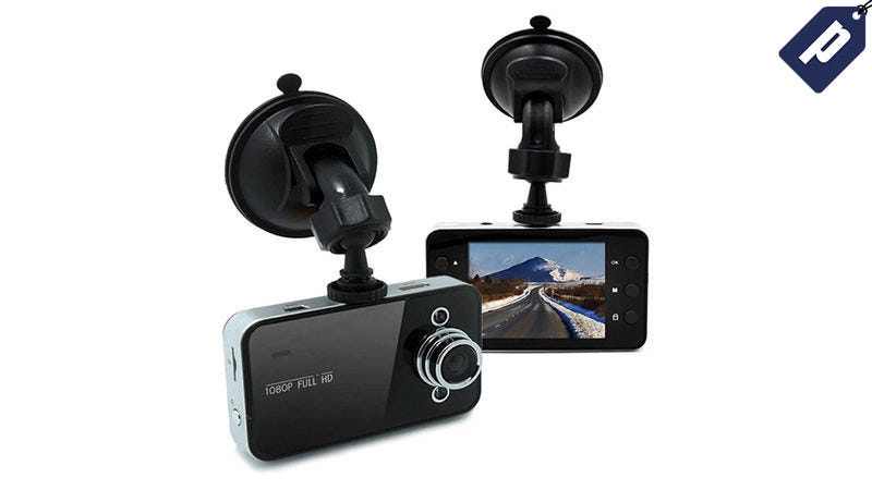 Illustration for article titled Stay Protected On The Road With This Hi-Res Dash Cam For $24