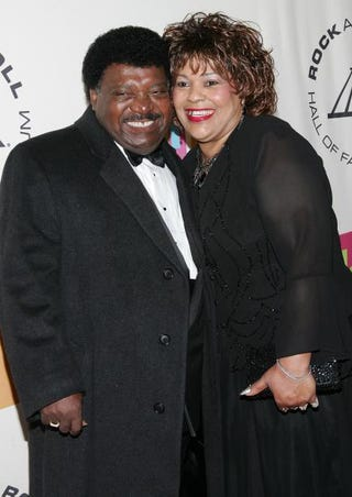 Inductee Percy Sledge and his wife, Rose, at the 20th annual Rock and Roll Hall of Fame Induction Ceremony at the Waldorf Astoria Hotel in New York City March 14, 2005Evan Agostini/Getty Images