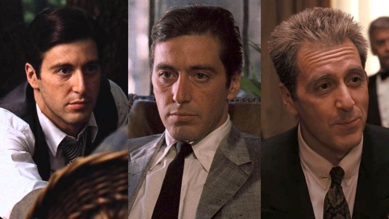 The characters pictured above are meant to be the same person and not three unrelated individuals named Michael Corleone, according to Coppola.