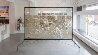 Illustration for article titled This Beautiful Map of Rotterdam Is Actually a Gigantic Ant Farm
