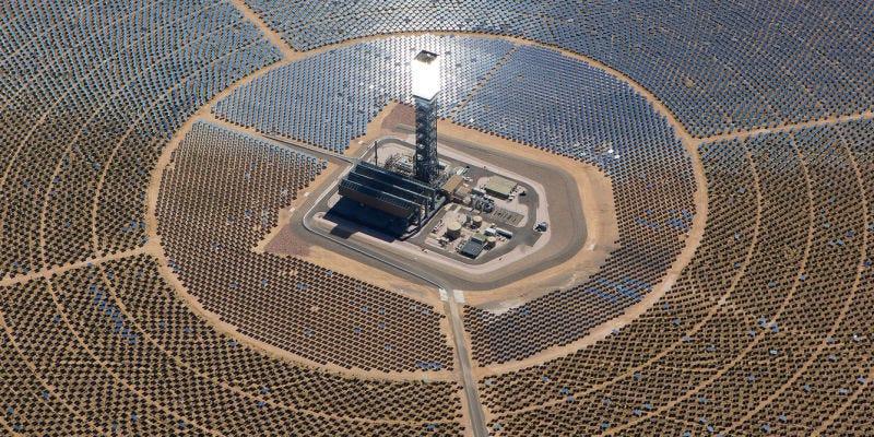 Image: Ivanpah solar plant in California