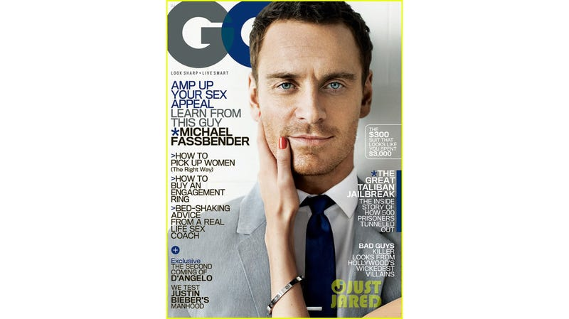 Illustration for article titled Someone Is Touching Your Boyfriend Michael Fassbender on the New Cover of GQ