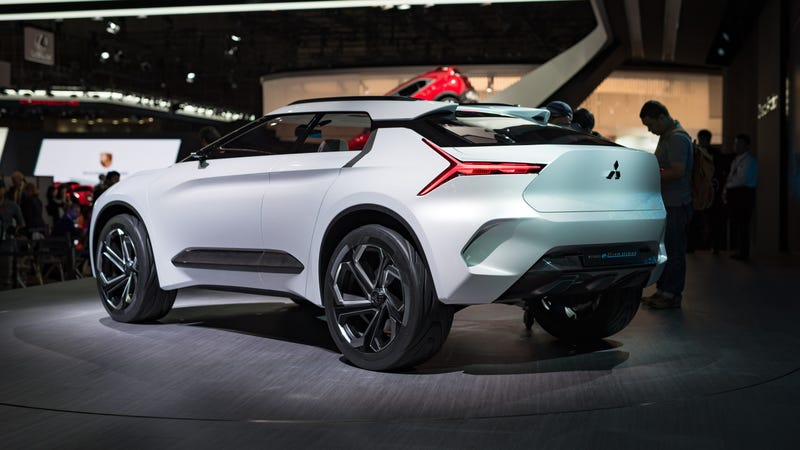 Only Mitsubishi Would Have The Gall To Call Its New Electric Suv Concept An E Evolution Sure It S Not A Lancer But Having Word