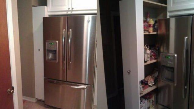Repurpose An Ikea Shelf Into A Sliding Pantry