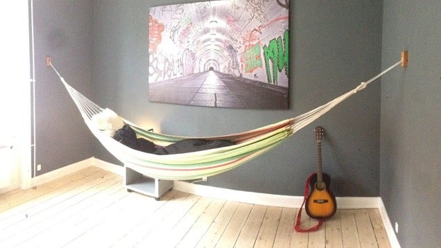 relaxing in a hammock is the picture of summer  bring this leisurely pursuit indoors by making these simple stylish hammock wall mounts  build this diy hammock wall mount and bring summer indoors  rh   lifehacker