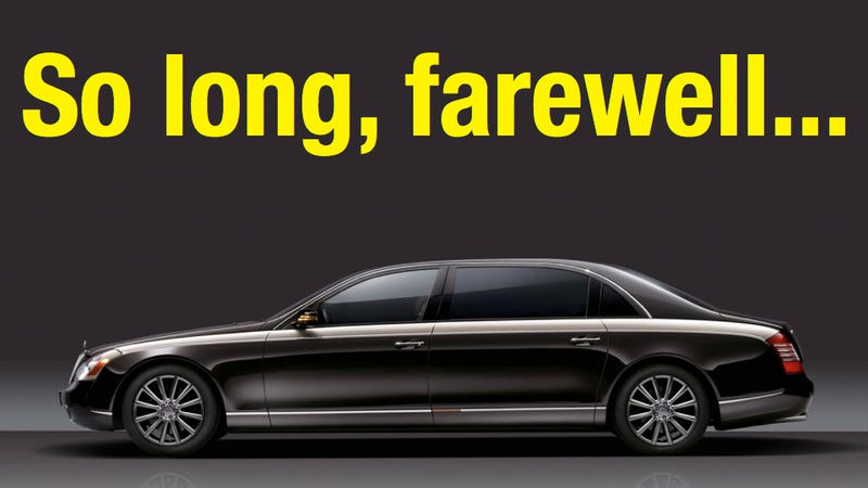 Illustration for article titled Maybach will soon be kaput!