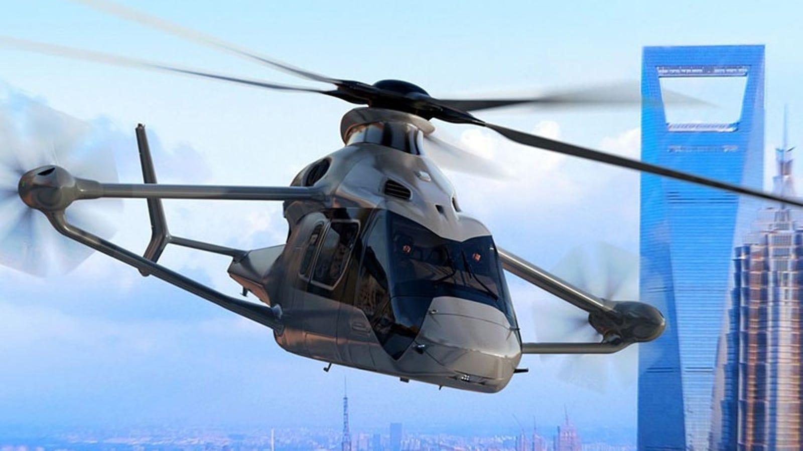 El helicóptero del futuro según Airbus tendrá alas, volará a 400 kilómetros por hora y estará listo para 2020