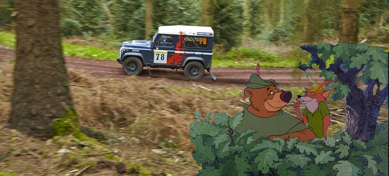 Illustration for article titled Rally-Spec Land Rover Defenders Racing In Robin Hood's 'Hood Tomorrow