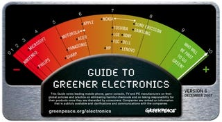 Illustration for article titled Sony Ericsson and Samsung Top Greenpeace Green List; Nintendo Worse Than Exxon on Crack?