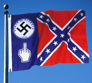 Illustration for article titled Georgia Adds Swastika, Middle Finger To State Flag
