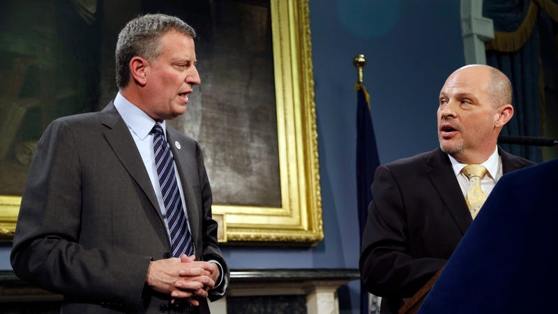 NYC Mayor Bill de Blasio and United Federation of Teachers president Michael Mulgrew in 2014.