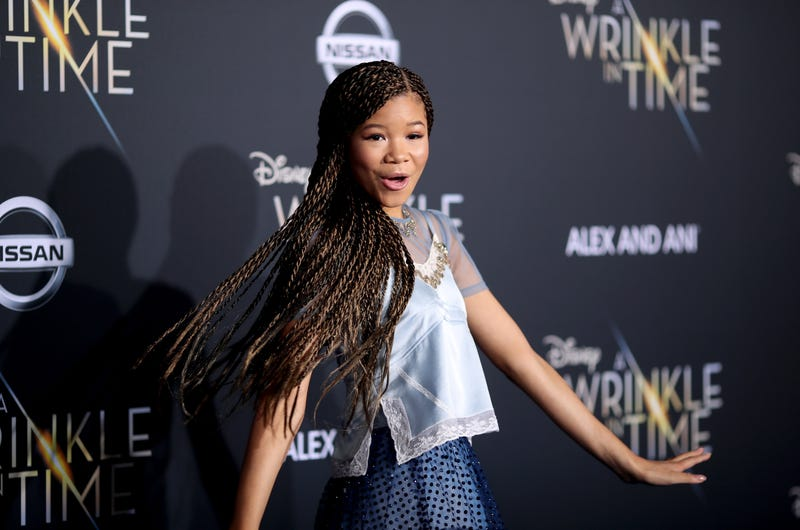 A star is born ... Storm Reid takes her turn on the blue carpet.