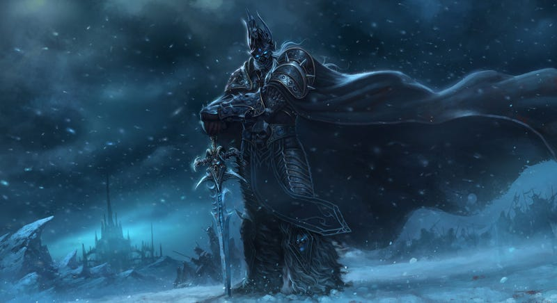 Illustration for article titled The Lich King is Ready to Battle Your Recycling Bin