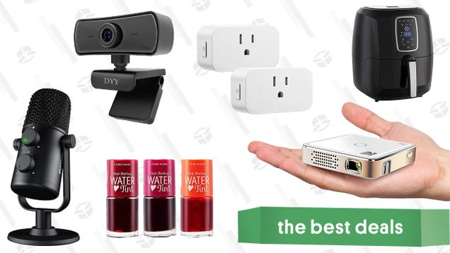 Sunday s Best Deals: Kodak Pocket Projector, 2K HD Rotating Webcam, Digital Air Fryer, Maono Cardioid Condenser Microphone, Smart Home Plugs, Etude House Tint, and More