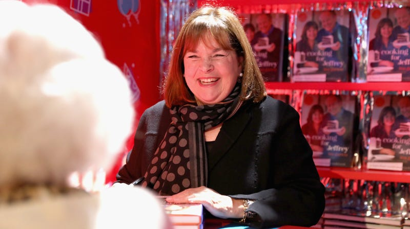 Ina Garten signs cookbooks during at the annual New York City Wine & Food Festival in October 2018.