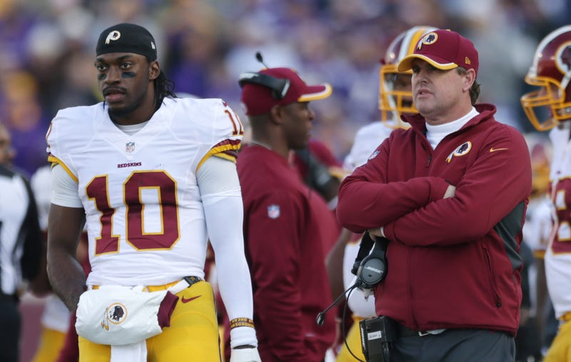 """Illustration for article titled Jay Gruden Blasts """"Amateurish"""" ESPN Report About Robert Griffin III"""