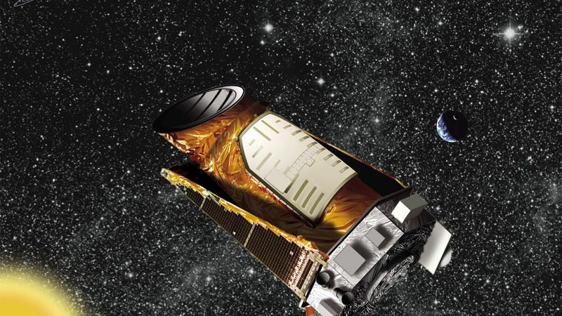 Illustration for article titled The Kepler space telescope is spinning out of control