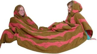 Illustration for article titled Twosomeblanket Is Icelandic Wool Snuggie for Couples