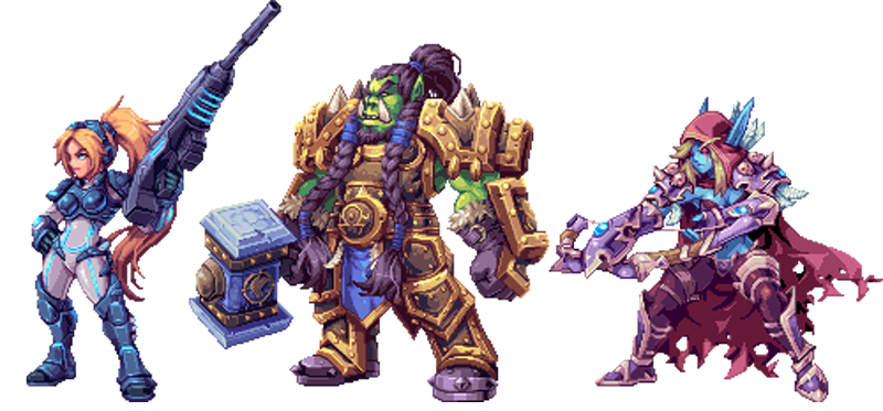 Illustration for article titled Blizzard Characters Make Awesome 2D Sprites