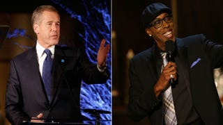 Brian Williams; Arsenio HallCindy Ord/Getty Images; Christopher Polk/Getty Images